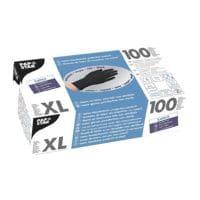 100 Papstar Einmalhandschuhe Latex, Größe XL schwarz