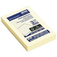 OTTO Office Haftnotizblock 7,5 x 5 cm, 100 Blatt gesamt, gelb