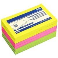 6x OTTO Office Haftnotizblock 12,5 x 7,5 cm, 600 Blatt gesamt, farbig sortiert
