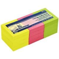 12x OTTO Office Haftnotizblock 5 x 4 cm, 1200 Blatt gesamt, farbig sortiert