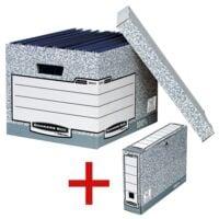 Bankers Box System 10er-Pack Archiv-Container inkl. 10er-Pack Ablageboxen