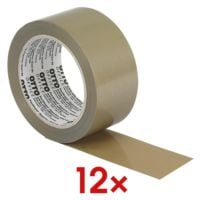 12x Packband OTTO Office Premium Superior, 50 mm breit, 66 Meter lang - leise abrollbar