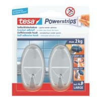tesa Powerstrips »Haken large« oval chromfarben 58050