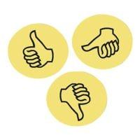 Franken Moderationskarten »Bewertungssymbol Daumen UMZWS«