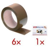 6x Packband Nopi Universal, 50 mm breit, 66 Meter lang inkl. Powerstrips »Poster«