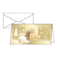 Weihnachtskarte SIGEL Surprise, DIN lang, mit Umschlag, 10 Stück