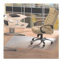 Bodenschutzmatte für Hartböden, Vinyl, Rechteck 90 x 120 cm, Floortex