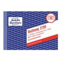 Avery Zweckform Formularbuch »Quittung 1735 MwSt. separat ausgewiesen«
