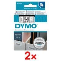 Dymo 2x D1-Beschriftungsband 12 mm x 7 m