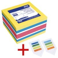 OTTO Office Haftnotizwürfel inkl. 2er-Pack Haftstreifen »Lesezeichen«
