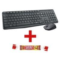 Logitech Kabelloses Desktop-Set »MK235« inkl. Fruchtgummi »Roulette«