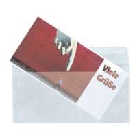 Mailmedia 25 Transparente Briefumschläge, DIN lang+ 82 g/m² ohne Fenster