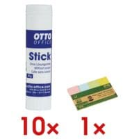 OTTO Office 10x Klebestift (à 40 g) »Stick« inkl. 1x Haftstreifen »Recycling«