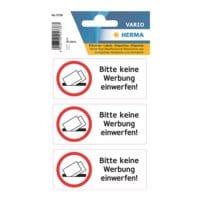 Herma Hinweisetiketten »Bitte keine Werbung einwerfen«