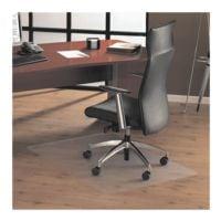 Bodenschutzmatte für Hartböden und Teppichböden, Polycarbonat, Rechteck 75 x 119 cm, Floortex Unomat