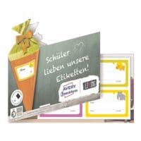 Avery Zweckform Muster-Etiketten aus der »Living-Serie« für Schulhefte