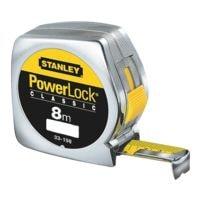 STANLEY Bandmaß »Powerlock« 8 m verchromtes Kunststoffgehäuse