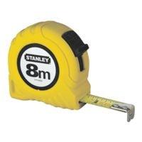 STANLEY Bandmaß »Powerlock« 8 m gelbes Kunststoffgehäuse