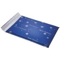 SIGEL 3 Stück Luftpolster-Versandtaschen Snowflake, 25x33,5 cm, im Kleinpack