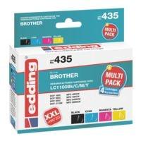 Edding Tintenpatronen-Set ersetzt Brother »LC1100«