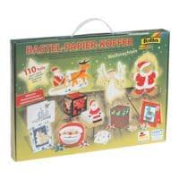 folia Bastel-Papier-Koffer »Weihnachten 110-teilig«