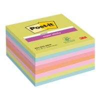 8x Post-it Super Sticky Haftnotizblock Super Sticky Notes 7,6 x 7,6 cm, 360 Blatt gesamt, farbig sortiert