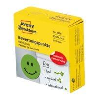Avery Zweckform Bewertungspunkte »Smiley« 19mm grün im Spender
