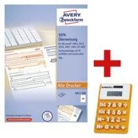 Avery Zweckform Formularvordrucke 2817-200 »SEPA-Überweisung« inkl. Solar-Taschenrechner
