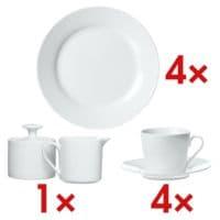 Ritzenhoff & Breker 4-teiliges Dessertteller-Set »Bianco« inkl. 4-teiliges Kaffeetassen-Set »Bianco« inkl. 2-teiliges Set Zuckerdose & Milchgießer »Bianco«