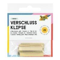 folia 25 Verschluss-Klipse »Gold Clips«