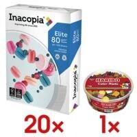 20x Multifunktionales Druckerpapier A4 Inacopia Elite - 10000 Blatt gesamt inkl. Fruchtgummi »Color-Rado«