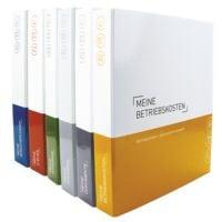 6er-Pack Themenringbücher mit Register für Versicherungen / Steuern / Vorsorge / Finanzen / Dokumente / Betriebskosten