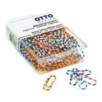 OTTO Office Büroklammern 28mm, zweifarbig gestreift, 100 Stück