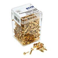 OTTO Office Musterbeutel-Klammern, goldfarben - 500 Stück