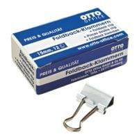 OTTO Office Foldback-Klammern 15mm, weiß, 12 Stück
