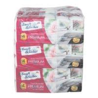 Sanft & Sicher Toilettenpapier 4-lagig, 90 Rollen (9 Pack à 10 Rollen) Premium 4-lagig, weiß - 90 Rollen (9 Pack à 10 Rollen)
