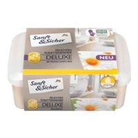 Sanft & Sicher 50 Tücher feuchtes Toilettenpapier Deluxe Kamille + Box, farbig sortiert - 1 x 50 feuchte Tücher + Box