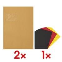2x 500 Versandtaschen, C4 mit Fenster inkl. Bastelkarton