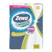 Zewa Küchenrollen 2-lagig, 16 Rollen »Wisch & Weg«