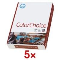 5x A4 HP ColorChoice - 2500 Blatt gesamt, 90g/qm