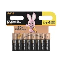 Duracell 16er-Pack Batterien »Plus Power« Mignon / AA 12+4  Promo