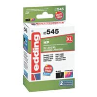 Edding Tintenpatronen-Multipack »EDD-545« ersetzt HPs »F6U68AE/F6U67AE« Nr. 302 XL