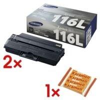 Samsung Doppelpack Toner »ML-D116L« SU828A MLT D116 inkl. Kaubonbons »Karamell Riesen«