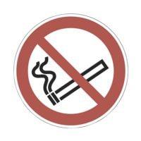 Sicherheitskennzeichen »Rauchen verboten [P002]« Ø: 10 cm doppelseitig bedruckt