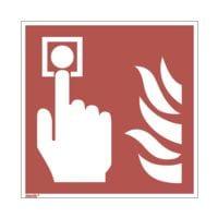 Sicherheitskennzeichen »Brandmelder [F005]« nachleuchtend 20 x 0,01 x 20 cm (Hart-PVC)