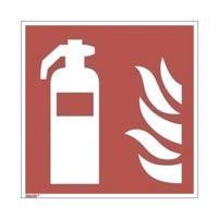 Sicherheitskennzeichen »Feuerlöscher [F001]« nachleuchtend 20 x 0,1 x 20 cm