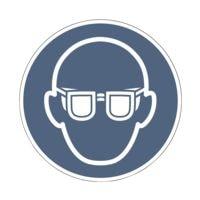 Sicherheitskennzeichen »Augenschutz benutzen [M004]« Ø: 20 cm
