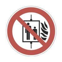 Sicherheitskennzeichen »Aufzug im Brandfall nicht benutzen [P020]« Ø: 20 cm