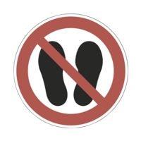 Sicherheitskennzeichen »Betreten der Fläche verboten [P024]« Ø: 20 cm