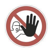 Sicherheitskennzeichen »Zutritt für Unbefugte verboten [D-P006]« Ø: 20 cm